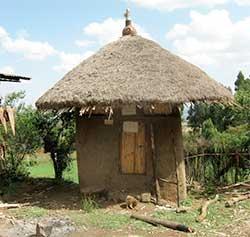 Potato storage hut