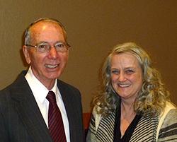 Ambassador David Shinn and Herald editor Janet Lee