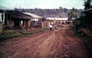 Photo 7. 1962 our Peace Corps home; white house on the left.