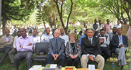 Ceremony at Hawassa to celebrate the distribution of the books to the various libraries