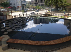 The newly developed Aser Park located near city center of Addis Ababa was one of many projects examined by students in the Landscape Architecture course at AAU.