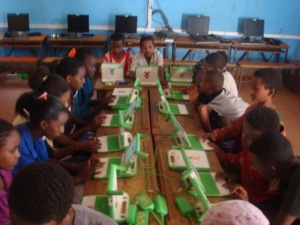 Recently acquired computers from the One Laptop per Child program funded by Legacy Program donations